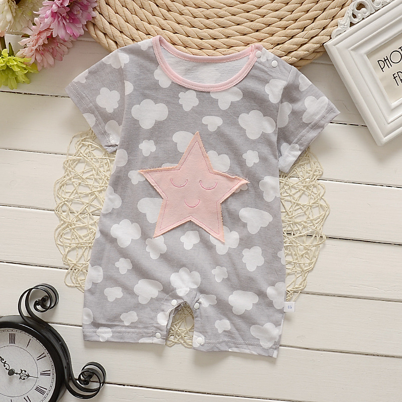 Summer baby girls Infant clothing new style baby romper short sleeve cartoon one piece Jumpsuit newborn baby boy girl clothes baby clothing summer infant newborn baby romper short sleeve girl boys jumpsuit new born baby clothes