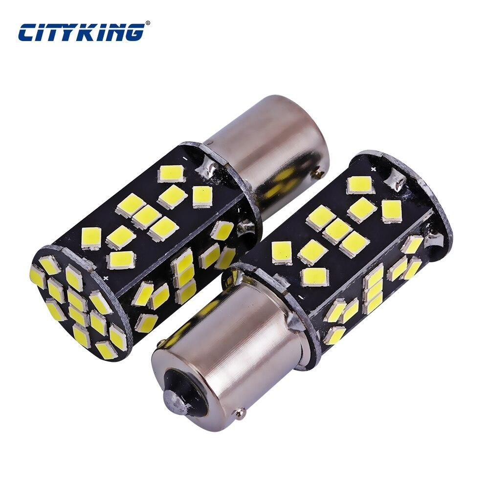 50pcs lot Super Bright White High Power 21W 1156 48led 2835 SMD ba15s 1156 LED Bulbs