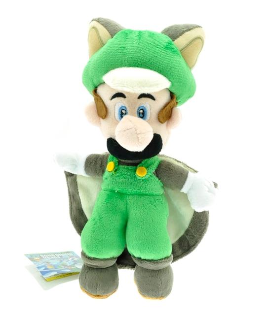 22 см Super Mario Плюшеві Іграшки білка-Летяга Musasabi Луїджі Плюшеві іграшки М'які Іграшки Цифри Іграшки Плюшеві Ляльки для Дітей подарунок