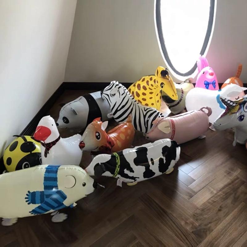 29 typer Walking Animal Balloons Cute Cat Dog Rabbit Panda Dinosaur - Semester och fester - Foto 4