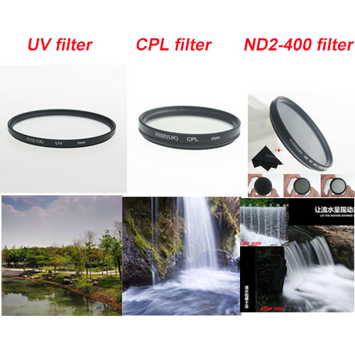 58mm UV Filter + 58mm Circular Polarizing CPL + 58 mm ND2 to ND400 Filter Kit for Canon 18-55 Nikon 50/1.4G fat cat professional 58mm underwater color correction red magenta dive filter cpl for gopro hero3