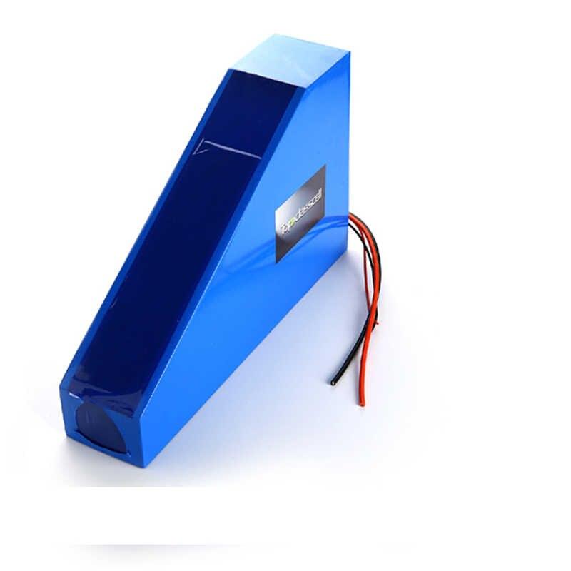 Dostosowane 72v 25ah bateria litowo-jonowa trójkąt styl 72V 3000W akumulator elektryczny rower z trójkątna torba