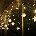 Coversage Cortina de Led Luzes Cordas de Fadas Do Jardim Do Casamento Do Natal Decoração Da Árvore de Luces Ao Ar Livre Decorativo Guirlande