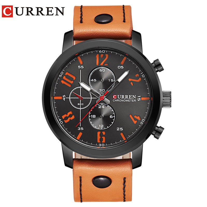 Men Watch Sport 30M Waterproof Fashion Wristwatch Montre Homme Genuine Leather Relojes Hombre 2018 Quartz Male Business Watch