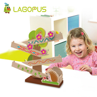 Lagopus Early Education Constructive Toy Hedgehogs Modeling Wooden Toys DIY Painting for Children