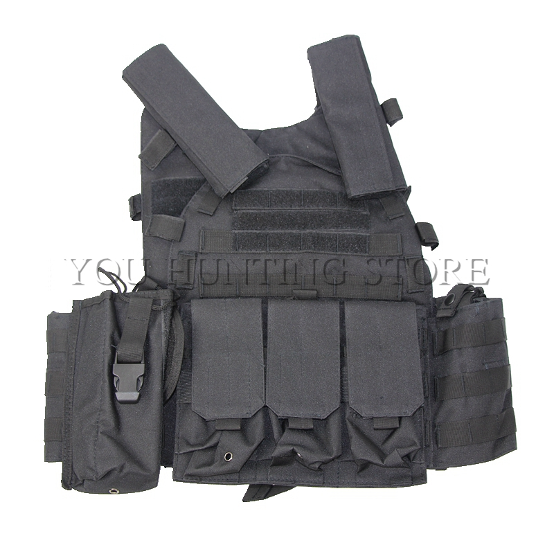 Army Police Training Military Tactical Vest Wargame Body Armor Sports Wear Molle Assault Airsoft Paintball Carrier Strike Vest police armor pl 14378jsr 12p