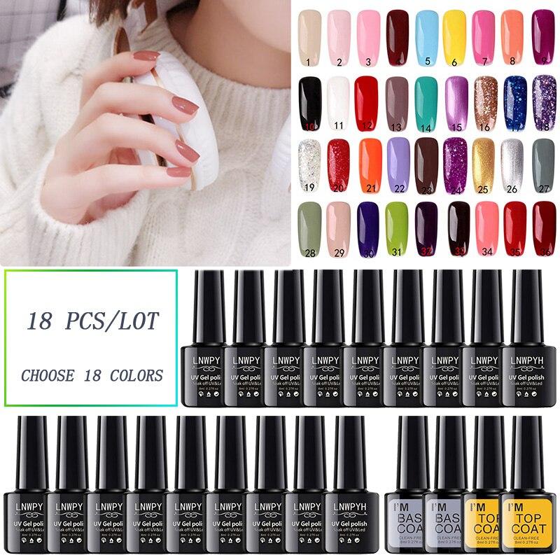 Nail art Gel 18 farben Gel Nagellack Set Kit Nail art Gel Lack UV LED Lampe Design acryl nagel maniküre Set