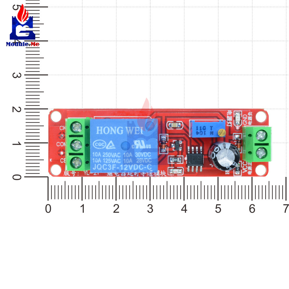 Ne555 Trigger Timer Switch Delay Connect Module Adjustable Time 555 Long Circuit Diagram Electronic Relay Dc 12v 10a 0 10 Seconds With Led Indicator Board In Integrated Circuits From