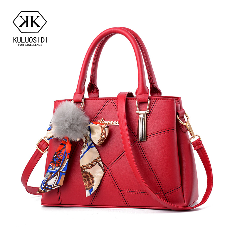 Women Leather Handbags Ribbons Bow Crossbody Bag For Women 2018 Sac a Main Female Messenger Bag Women Hand Bags