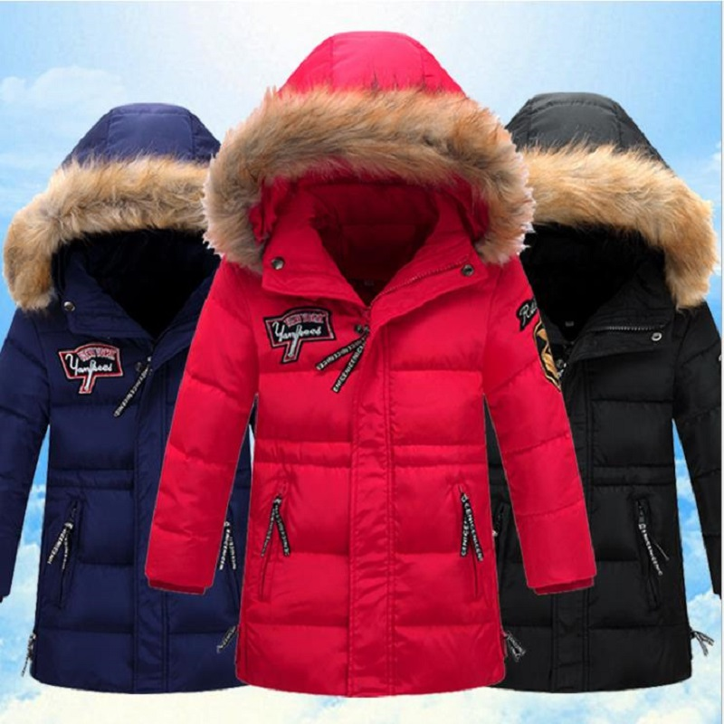 -30degree 6-16Y Parka Outerwear coats children's cold winter clothes jacket boy for Boys down Jackets Coats warm Kids Baby thick children winter coats jacket baby boys warm outerwear thickening outdoors kids snow proof coat parkas cotton padded clothes