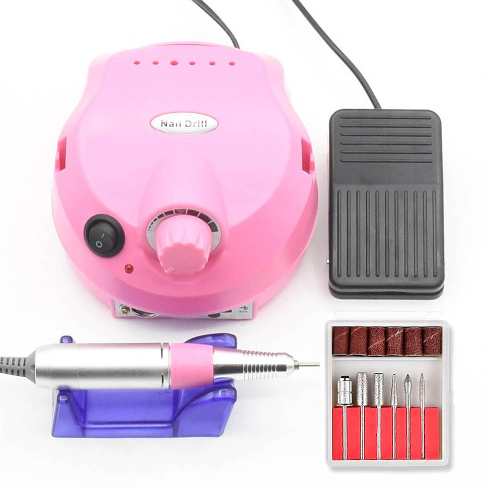 30000RPM Pro Electric Nail Drill Machine Acrylic Nail File Drill Manicure Pedicure Kit Nail Art Equipment Manicure Machine цена