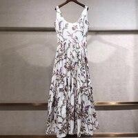 Длинное Вечерние Платье женское летнее элегантное женское платье с цветочным принтом без рукавов 2019 модное женское Новое элегантное плать