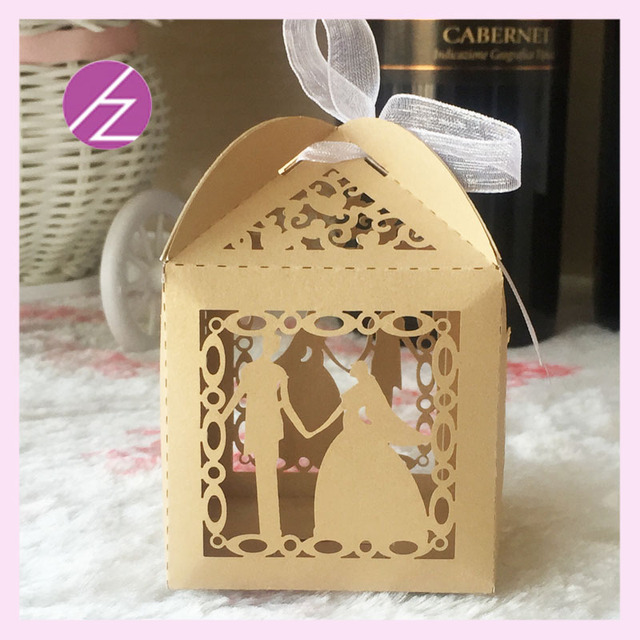 50pcs/lot Happy wedding lovely bride and bridegroom wedding favors ...
