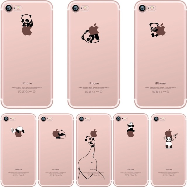 Ciciber Phone Cases Lovely Interesting Animal Pandas Design Clear