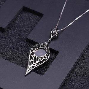 Image 3 - GEMS BALLET 100% 925 Sterling Sliver Natural Smoky Quartz Gemstone Vintage Gothic Punk Pendant Necklace For Women Party Jewelry
