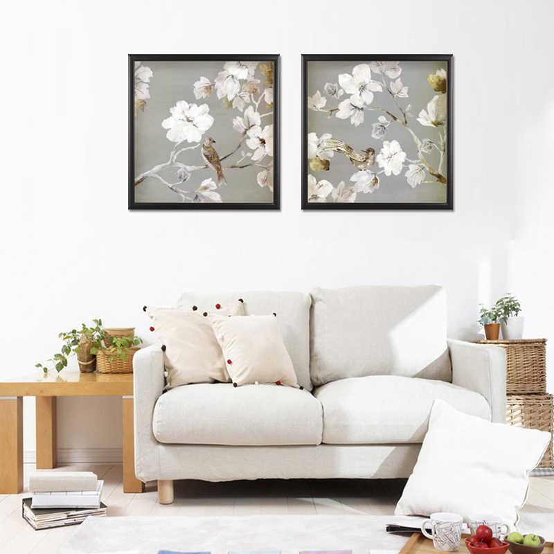 Wholesale 2 Pieces/set Flower series poster Wall Art For Wall Decor Home Decoration Picture Paint on Canvas Prints Painting