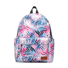 KANDRA 2019 Watercolor Feather Print Backpack Women Fashion Oxford Waterproof School Bag Multifunctional Travel Laptop