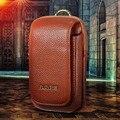 Couro genuíno De Multi Modelo de Telefone Saco Do Telefone Móvel Cinto de Laço Do Gancho Montanhismo Travel Bag Wallet Caso Bolsa Coldre JS0457