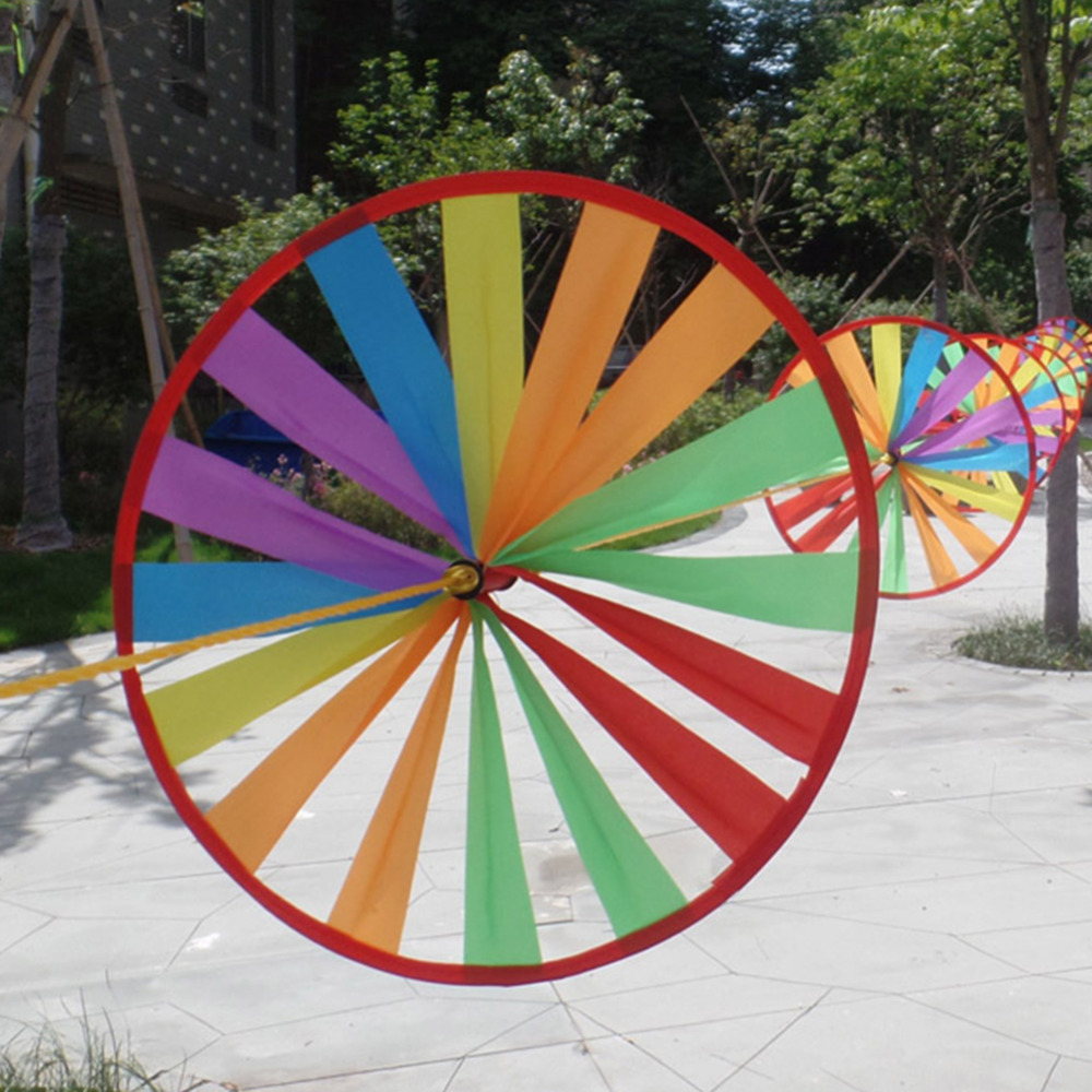 8 Piece Wind Spinner Weatherproof Nylon Whirligig Outdoor