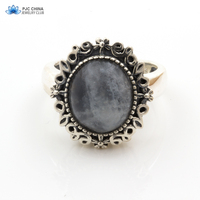 PJC Natural Gemstone 10 12mm Moonstone Rings High Quality Twilight Fine Jewelry Bella Same 925 Silver
