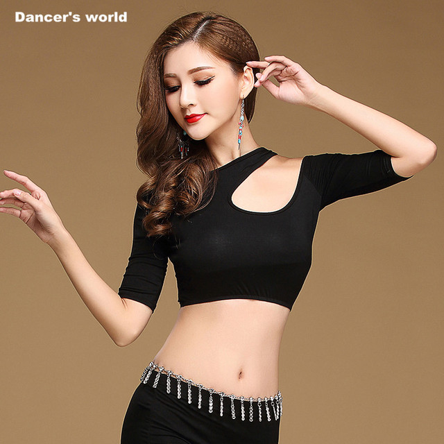 9f8165880ca Girls dance top women dance T+shirt lady belly dance modal half sleeves top  clothes belly dance clothing