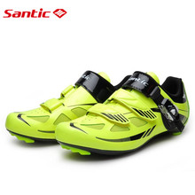 Santic Road Cycling Shoes Green Bicycle Shoes Nylon sole Road Shoes Cycling zapatillas ciclismo  S12019Y