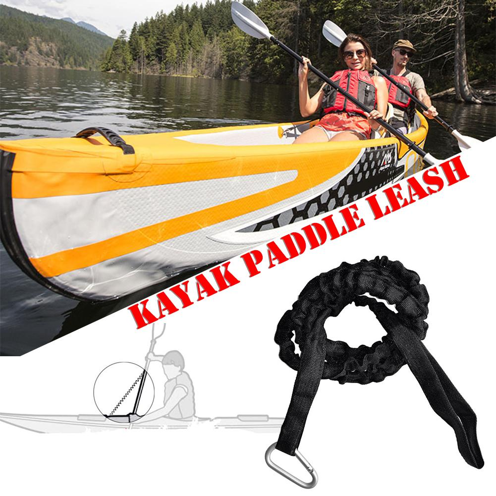 Kayak Canoe Paddle Rod Leash Safety Rope Carabiner Rowing Boats Accessories 9H