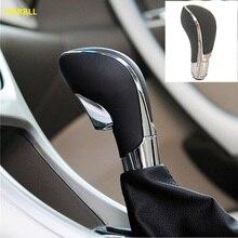 Engranaje de transmisión automática de cuero PU cromado negro, pomo de palanca de cambios para Opel Vauxhall Insignia Buick Regal 20986271