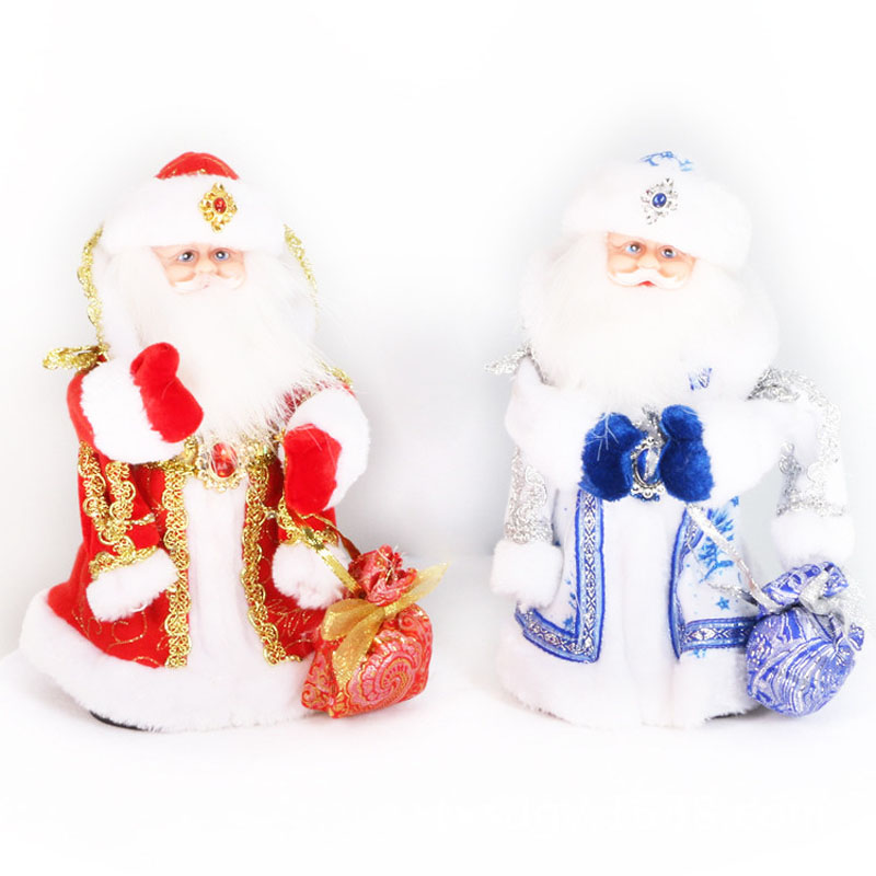 ∞Dresses Toy Russian Music Santa Claus Father Christmas Doll With ...