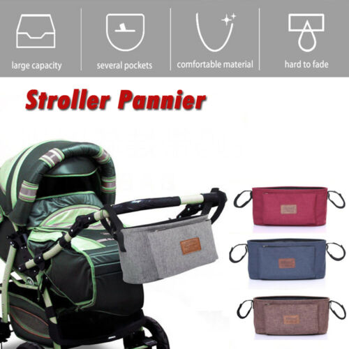 Baby Stroller Bag Stroller Organizer Baby Carriage Pram Buggy Cart Bottle  Bag Solid Brief Fashion Bag