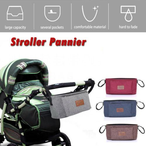 Baby Stroller Bag Stroller Organizer Baby Carriage Pram Buggy Cart Bottle  Bag Solid Brief Fashion Bag
