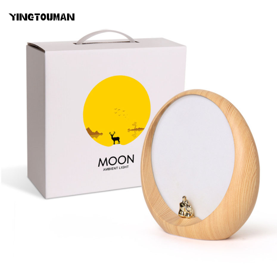 YINGTOUMAN Moon Type USB Led Night Light Table Lamp For Baby Room Gifts Visual Light Ambient Lighting