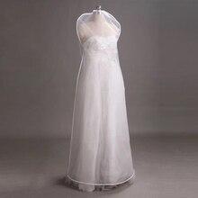 Şeffaf çift taraflı örgü bayan giyim saklama çantası koruyucu kapakları için toz geçirmez durumda düğün elbisesi bornoz elbise AC022