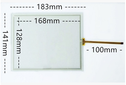 183*141 New 8 Inch 4 Line Resistive Touch Screen Industrial Control Equipment Touch Screen 183mm*141mm