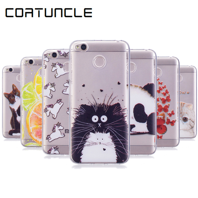 COATUNCLE Transparent Phone Case Xiaomi Redmi 4X Case 5.0