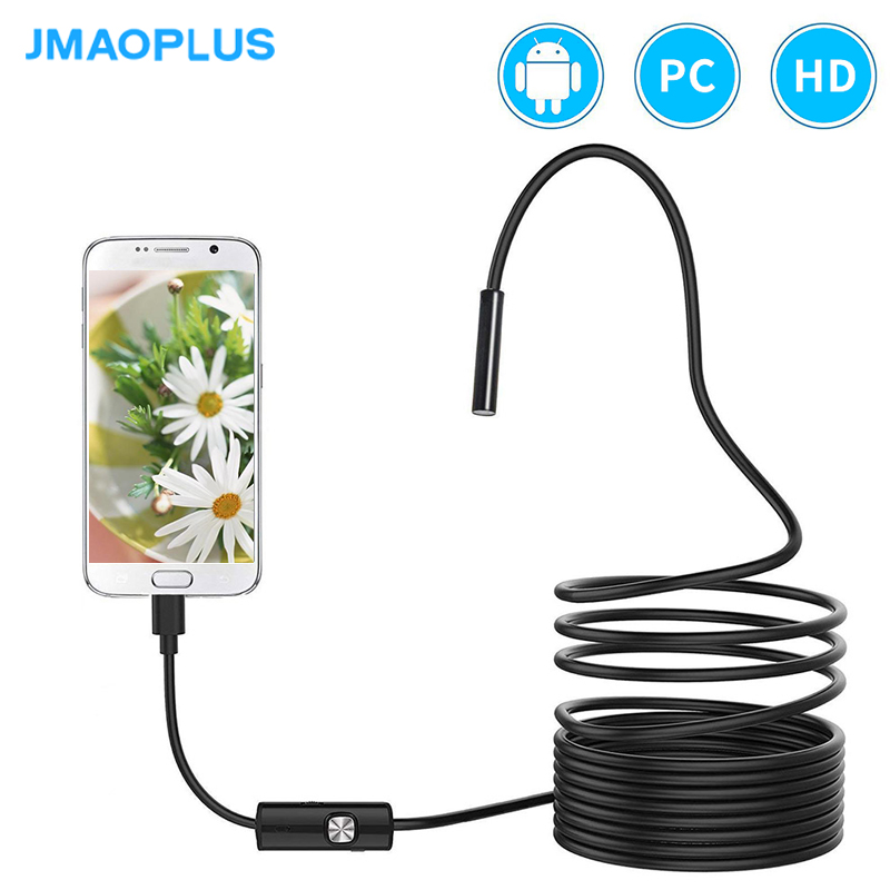 Endoscope 5.5mm Micro USB Camera External Camera For Android Phone IP67 Waterproof Snake Camera With 6 Led Android Device For PC