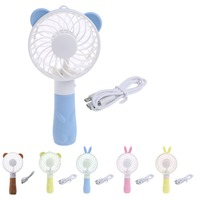 Portable Hand Fan Battery Operated USB Power Handheld Mini Fan Cooler with Strap Beauty Tools