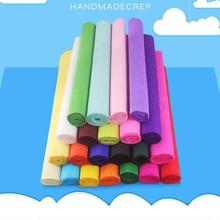 DIY Paper Flower-Material Retractable Handmade 24-Color Kindergarten 250x50cm Rolled-Edge