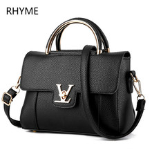Rhyme  Leather Tote Bag 2016 Luxury Women Shoulder bags, Fashion Women Bag Brand Handbag