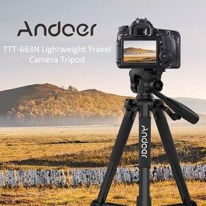 Image 1 - Штатив для фотоаппарата Andoer, штатив для фотосъемки, видеокамеры DSLR SLR с сумкой для переноски, зажим для телефона, аксессуары