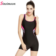 Women New Style Quick Dry Swimsuit Female Patchwork One Piece Bathing suit Professional Tech Swimwear Boxer Bodysuit Beachwear