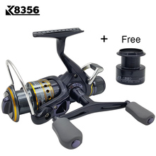 K8356 5.5:1 9+1BB Dual Brake Saltwater Fishing Reel Metal Spool Sea Boat Spinning Carp Fishing Reels With Extra Spool 3000-5000