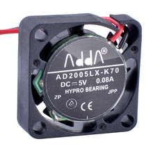 Купить с кэшбэком COOLING REVOLUTION AD2005LX-K70 2006 20x20x6mm 5V 0.08A Miniature ultra-thin cooling fan