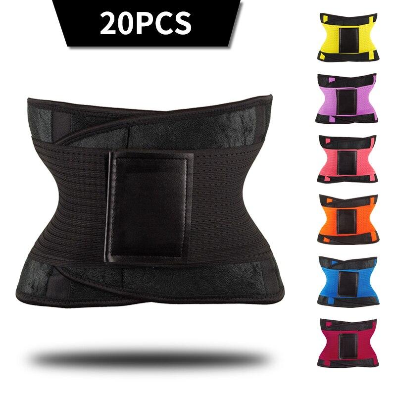 20PCS Waist Trainer Trimmer Belt for Women Body Shaper Belly Wrap Sauna Slimming belt