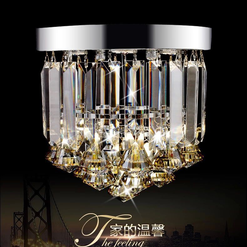 Dia23* H21CM Top K9 Crystal Ceiling Light Lamparas de techo Hallway Lights Rain Drop Amber/ Clear Color