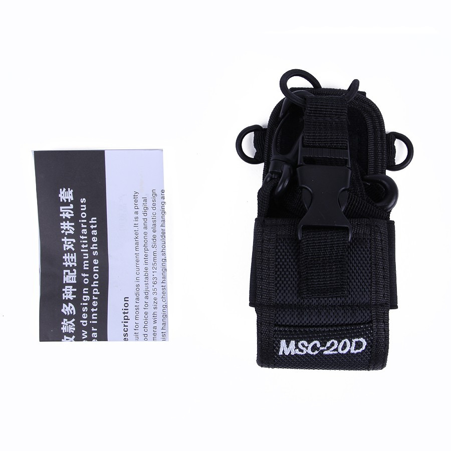 Big Nylon Pouch Bag Carry Case For BaoFeng UV-5R UV-82 UV-XR UV-9R Plus Mototrola GP328 GP88 GP3188 Walkie Talkie Radio