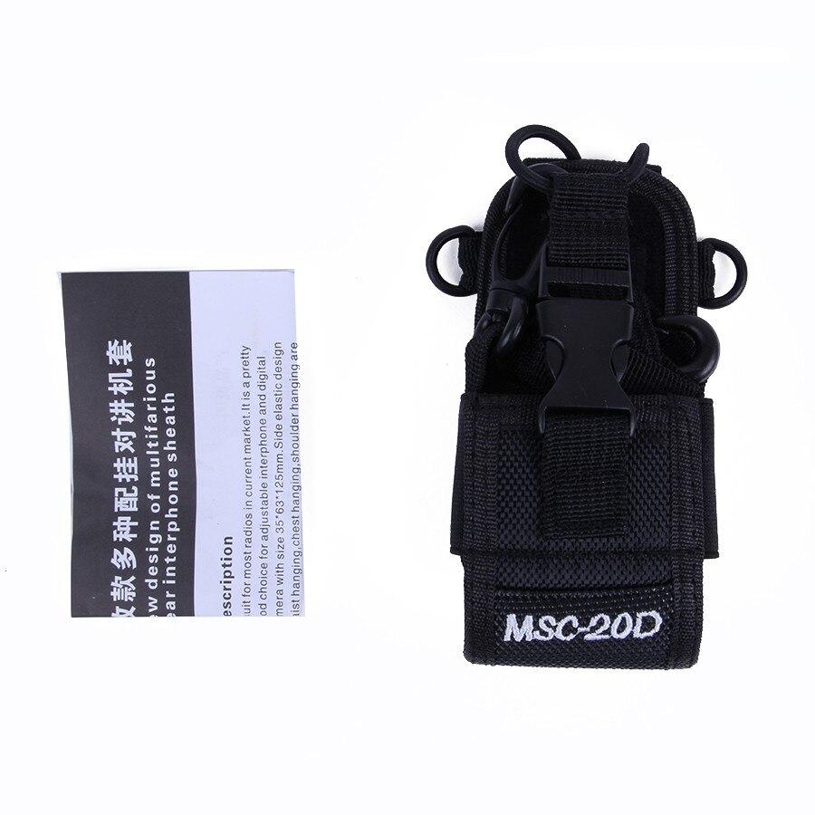 Talkie walkie sac Cas Titulaire MSC-20D Nylon Carry Case Pour Kenwood BaoFeng UV-5R UV-5RA UV-5RB UV-5RC UV-B5 UV-B6 BF-888S Sac