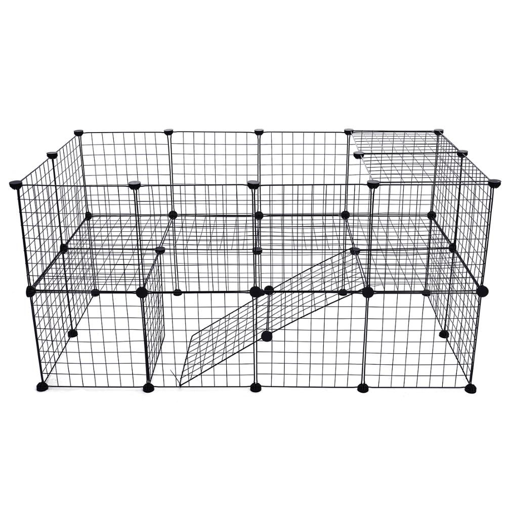 DIY Pet Fences Dog Cage Playpen Iron Net Cat Puppy Kennel House Animal Bird Rabbit Guinea Pig Playing Sleeping Room