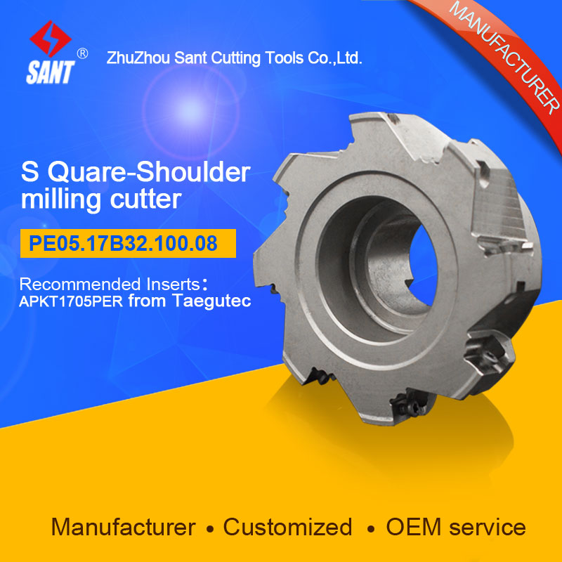 Square shoulder milling cutter Indexable milling cutter insert APKT1705PER from Taegutec discPE05.17B32.100.08 hot selling abrod