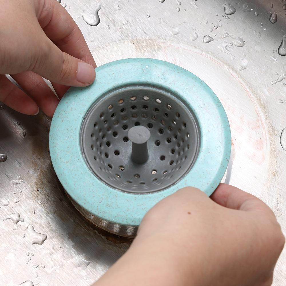 Kitchen Sink Filter Screen Floor Drain Hair Stopper Hand Sink Plug Bath Catcher Sink Strainer Cover Kitchen Bathroom Sink Plug